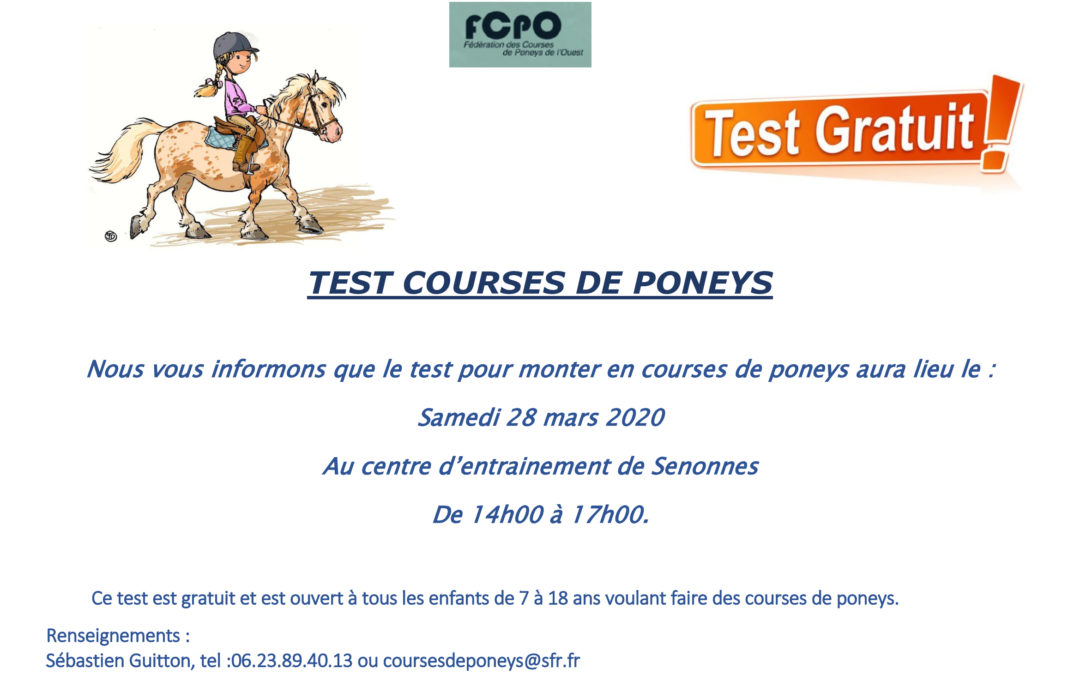 Test Courses de Poneys